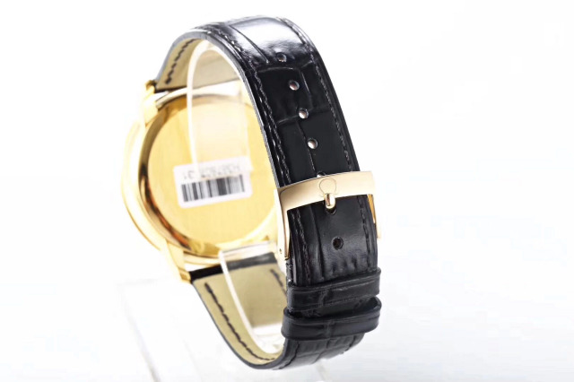 Omega De-Ville Black Leather Strap